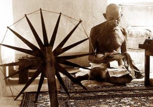 Gandhi Spinning Cotton