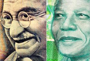 Gandhi Mandela south africa tour