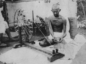 Gandhi spinning 1920s
