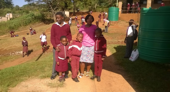 Fikile with pupils
