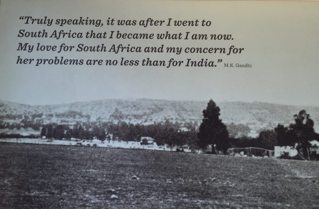 Gandhi racist? Love quote for South Africa